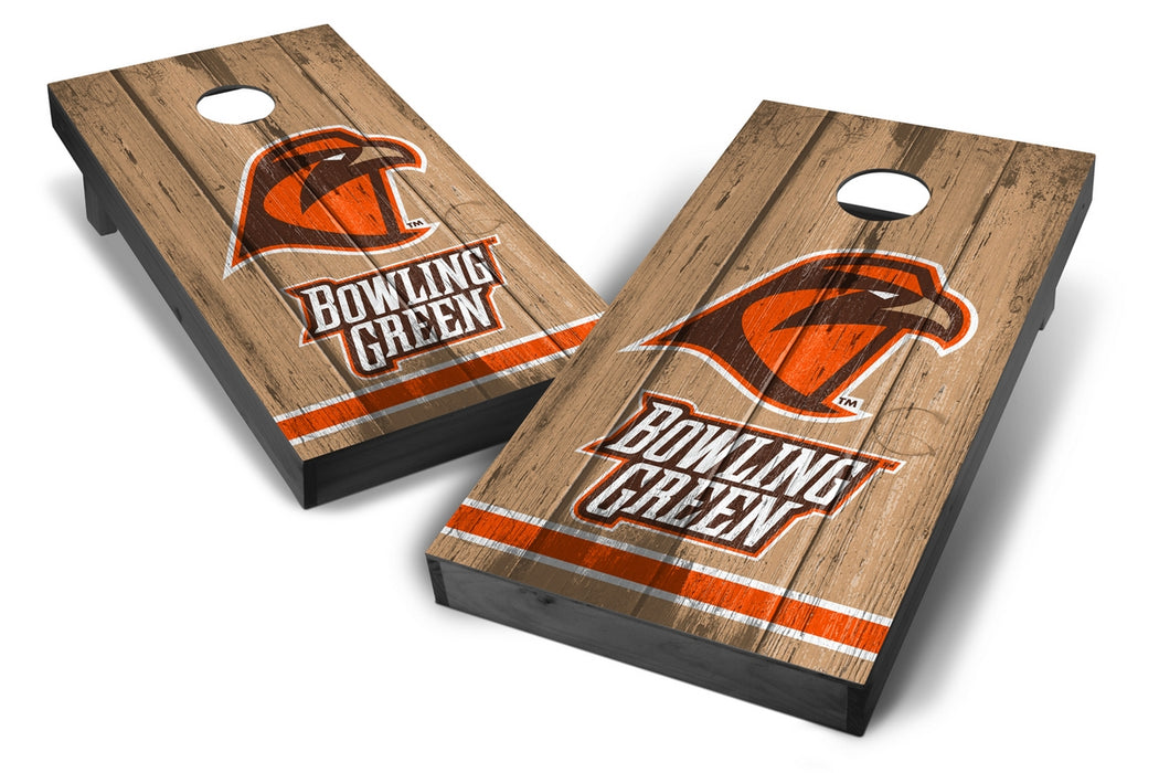 Bowling Green Falcons 2x4 Cornhole Board Set Onyx Stained - Vintage
