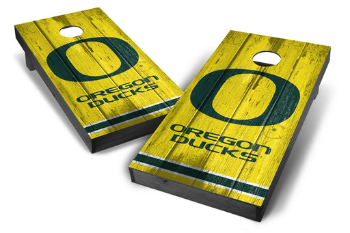 Oregon Ducks 2x4 Cornhole Board Set Onyx Stained - Vintage