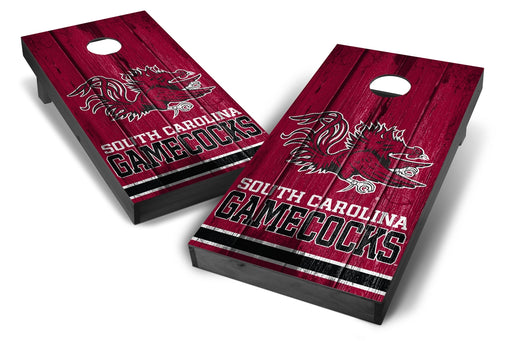 South Carolina Gamecocks 2x4 Cornhole Board Set Onyx Stained - Vintage