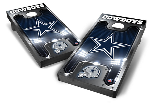 Dallas Cowboys 2x4 Cornhole Board Set Onyx Stained - Plate