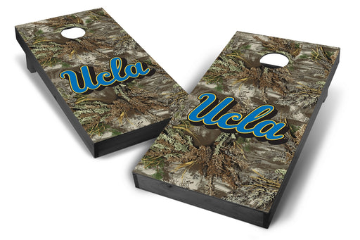 UCLA Bruins 2x4 Cornhole Board Set Onyx Stained - Realtree Max-1 Camo