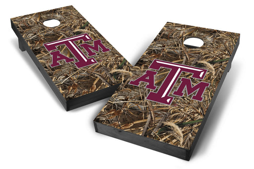 Texas A&M Aggies 2x4 Cornhole Board Set Onyx Stained - Realtree Max-5 Camo