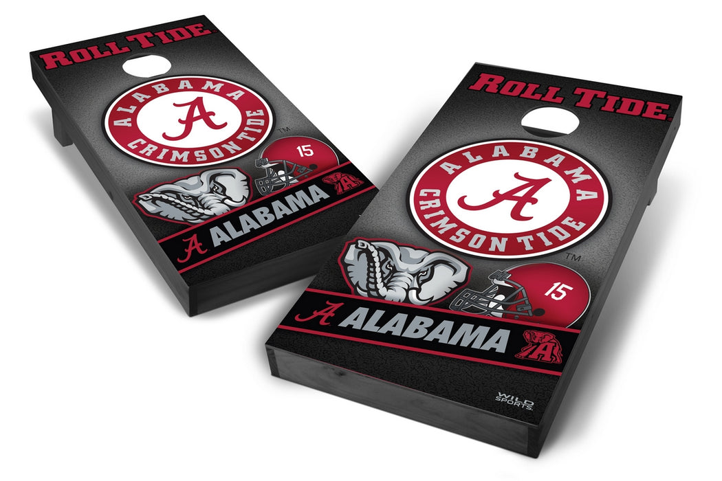 Alabama Crimson Tide 2x4 Cornhole Board Set Onyx Stained - Wild