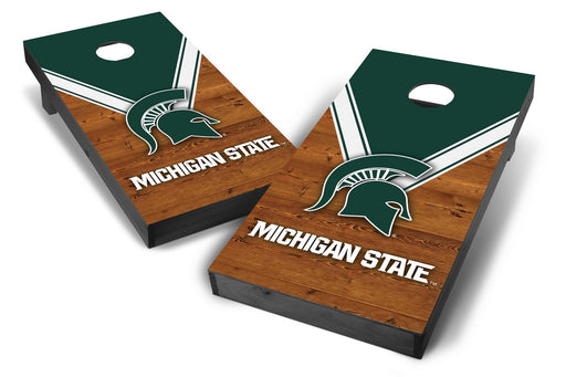 Michigan State Spartans 2x4 Cornhole Board Set Onyx Stained - Uniform