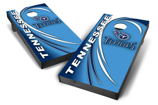 Tennessee Titans 2x4 Cornhole Board Set Onyx Stained - Spiral