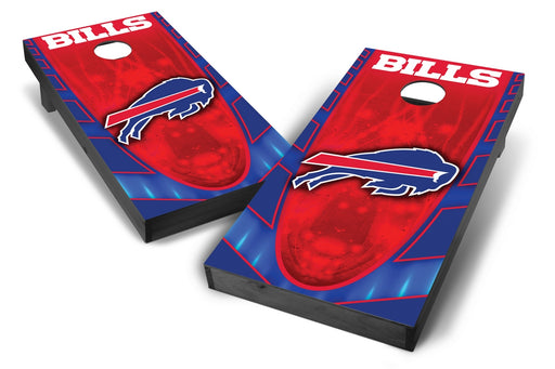 Buffalo Bills 2x4 Cornhole Board Set Onyx Stained - Hot