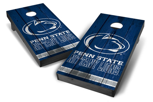 Penn State Nittany Lions 2x4 Cornhole Board Set Onyx Stained - Vintage