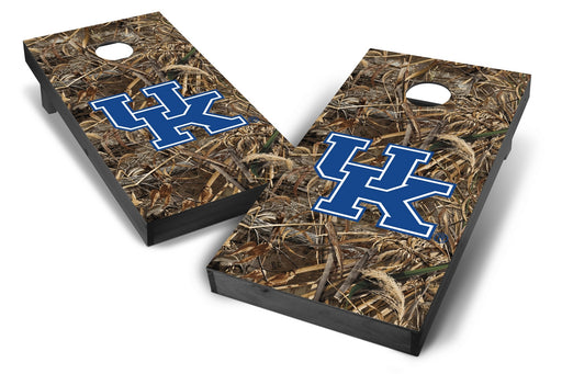 Kentucky Wildcats 2x4 Cornhole Board Set Onyx Stained - Realtree Max-5 Camo