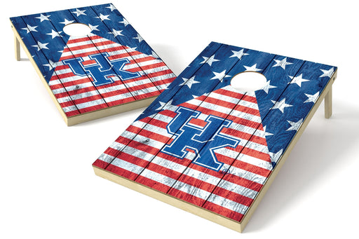 Kentucky Wildcats 2x3 Cornhole Board Set - American Flag