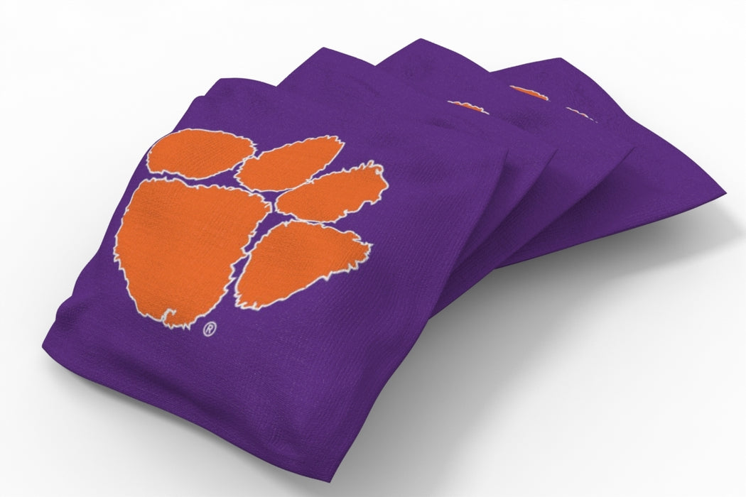 Clemson Tigers 2x4 Cornhole Board Set Onyx Stained - Logo