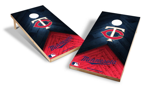 Minnesota Twins 2x4 Cornhole Board Set - Weathered
