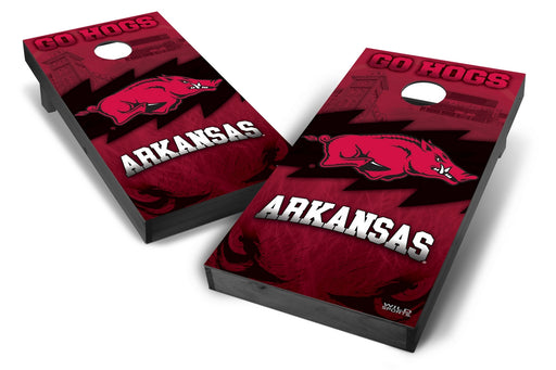 Arkansas Razorbacks 2x4 Cornhole Board Set Onyx Stained - Wild