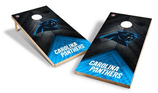 Carolina Panthers 2x4 Cornhole Board Set - Weathered
