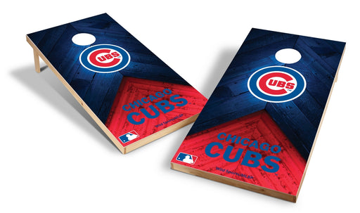 Chicago Cubs 2x4 Cornhole Board Set - Weathered