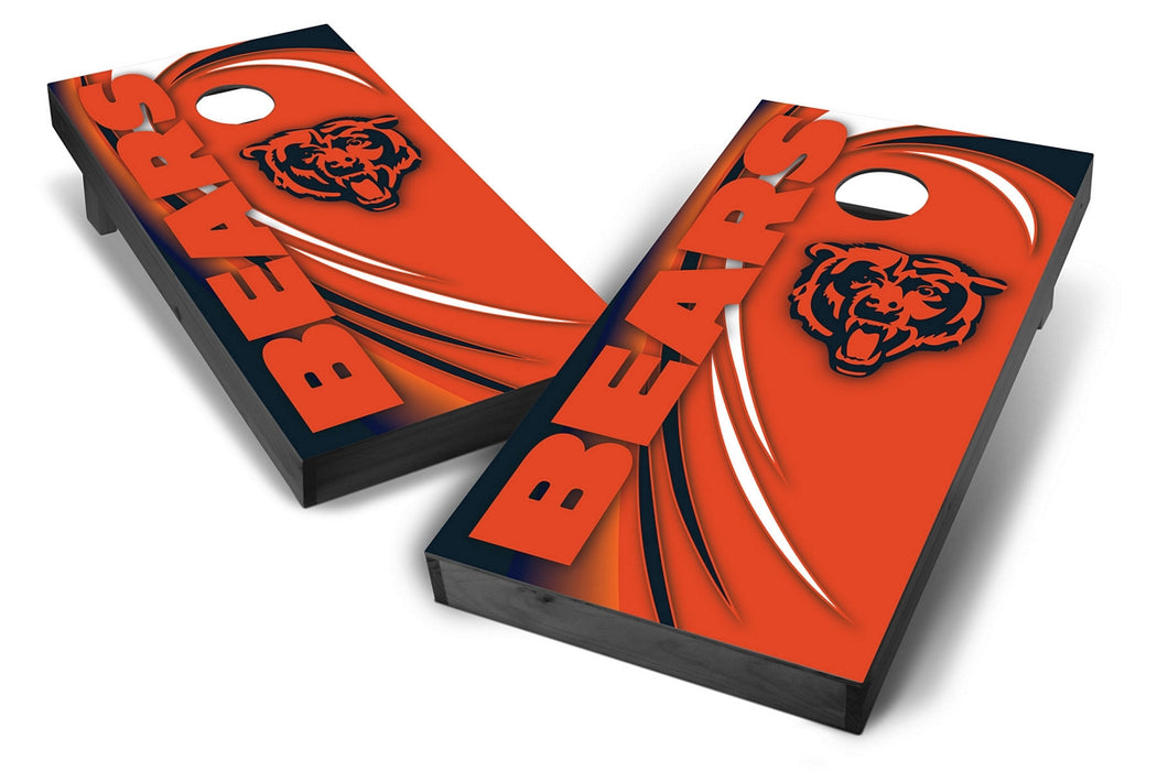 Chicago Bears 2x4 Cornhole Board Set Onyx Stained - Spiral