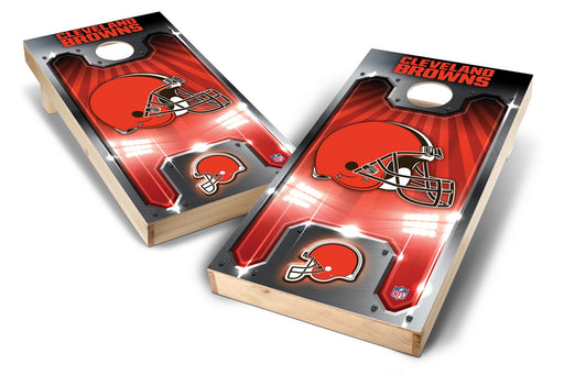 Cleveland Browns 2x4 Cornhole Board Set - Plate