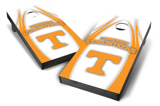 Tennessee Volunteers 2x4 Cornhole Board Set Onyx Stained - Edge