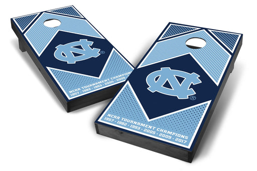 North Carolina Tar Heels 2x4 Cornhole Board Set Onyx Stained - Champions