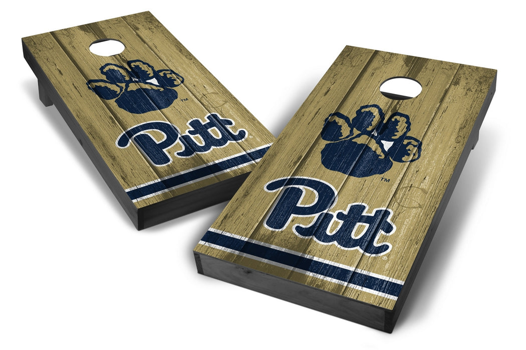 Pittsburgh Panthers 2x4 Cornhole Board Set Onyx Stained - Vintage