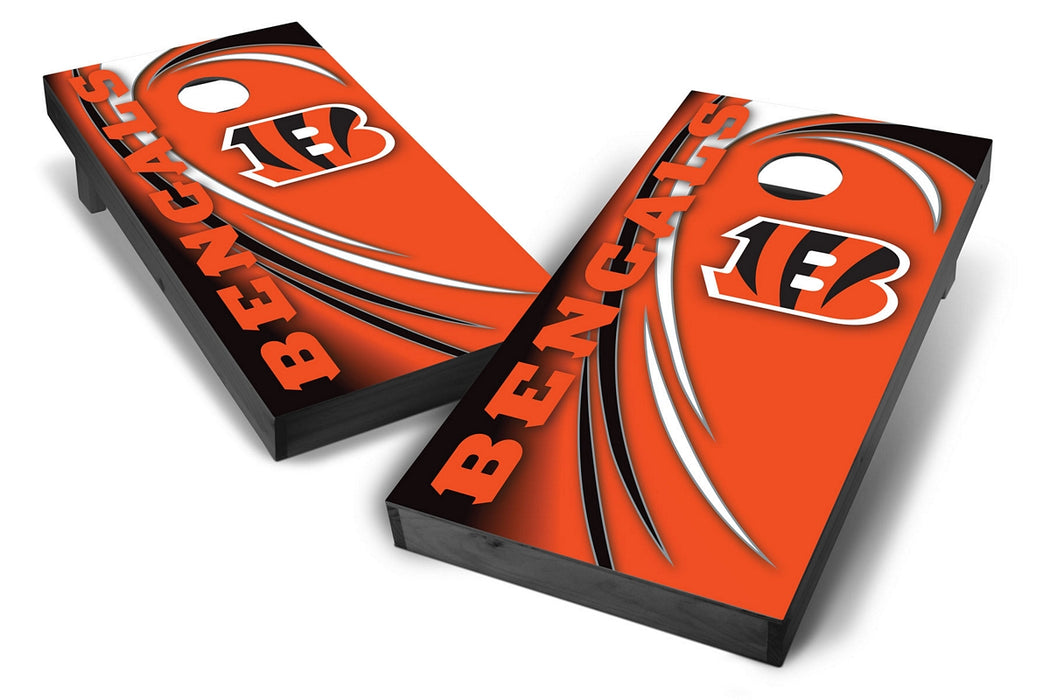 Cincinnati Bengals 2x4 Cornhole Board Set Onyx Stained - Spiral