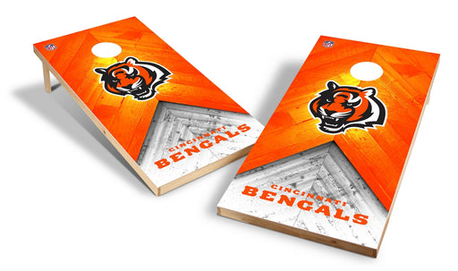 Cincinnati Bengals 2x4 Cornhole Board Set - Weathered
