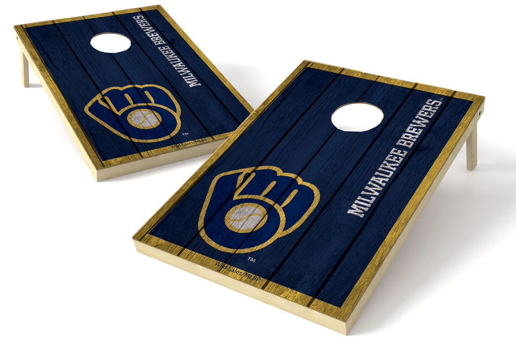 Milwaukee Brewers 2x3 Cornhole Board Set - Vintage