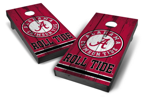 Alabama Crimson Tide 2x4 Cornhole Board Set Onyx Stained - Vintage