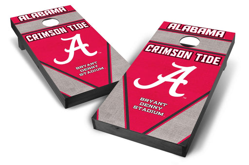 Alabama Crimson Tide 2x4 Cornhole Board Set Onyx Stained - Burlap