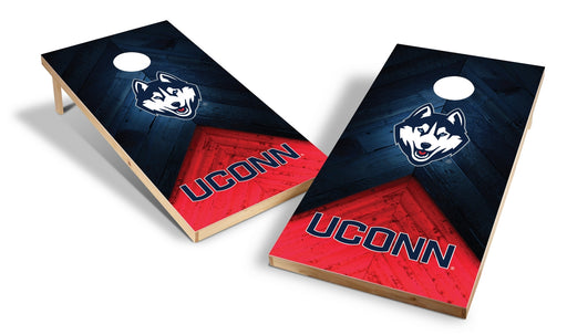 Connecticut Huskies 2x4 Cornhole Board Set - Weathered
