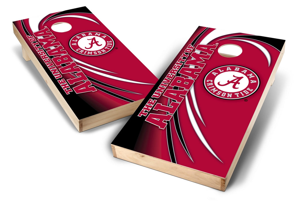 Alabama Crimson Tide 2x4 Cornhole Board Set - Spiral
