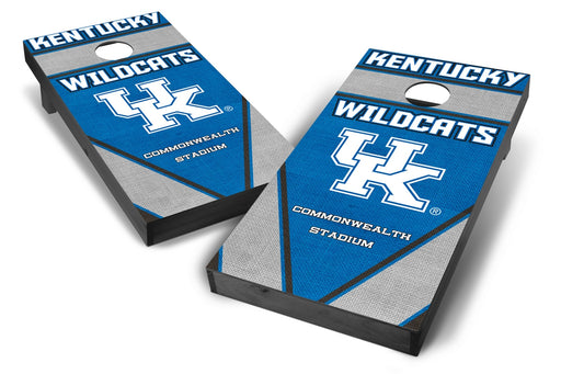 Kentucky Wildcats 2x4 Cornhole Board Set Onyx Stained - Burlap