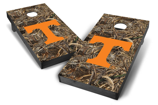 Tennessee Volunteers 2x4 Cornhole Board Set Onyx Stained - Realtree Max-5 Camo