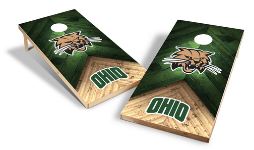 Ohio Bobcats 2x4 Cornhole Board Set - Weathered
