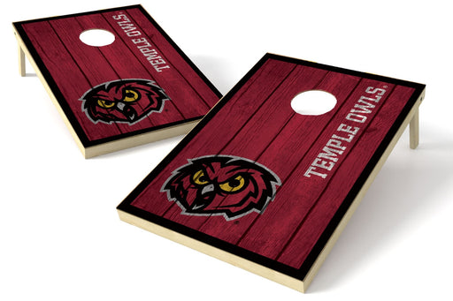 Temple U 2x3 Cornhole Board Set - Vintage