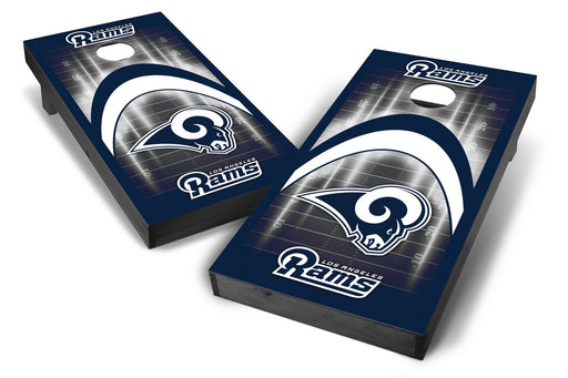 Los Angeles Rams 2x4 Cornhole Board Set Onyx Stained - Arch