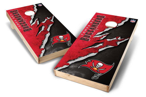 Tampa Bay Buccaneers 2x4 Cornhole Board Set - Ripped