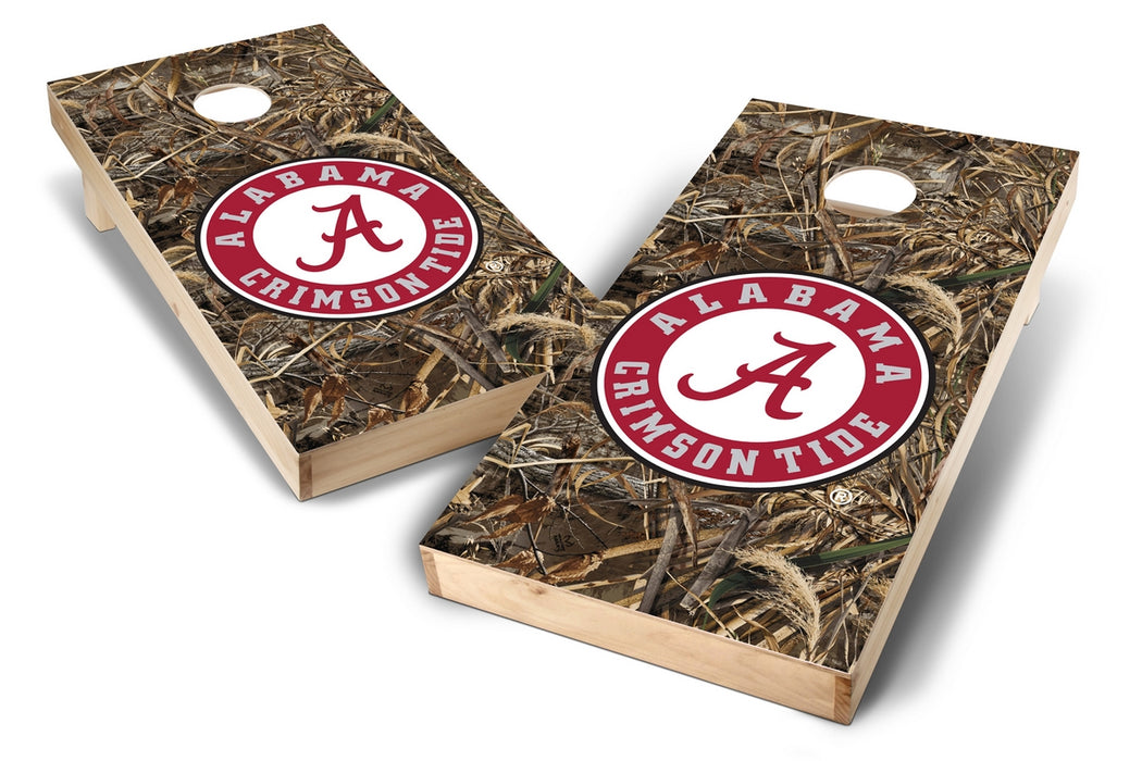 Alabama Crimson Tide 2x4 Cornhole Board Set - Realtree Max-5 Camo