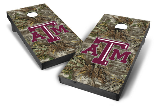Texas A&M Aggies 2x4 Cornhole Board Set Onyx Stained - Realtree Max-1 Camo