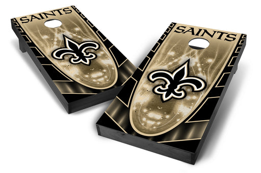 New Orleans Saints 2x4 Cornhole Board Set Onyx Stained - Hot