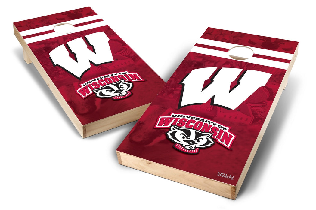 Wisconsin Badgers 2x4 Cornhole Board Set - Wild
