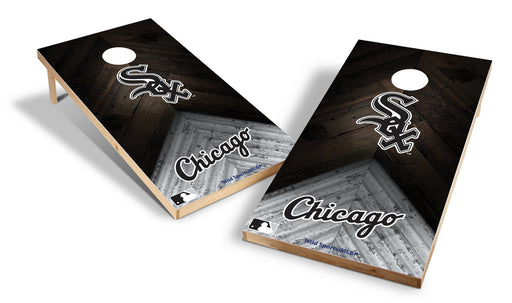 Chicago White Sox 2x4 Cornhole Board Set - Weathered