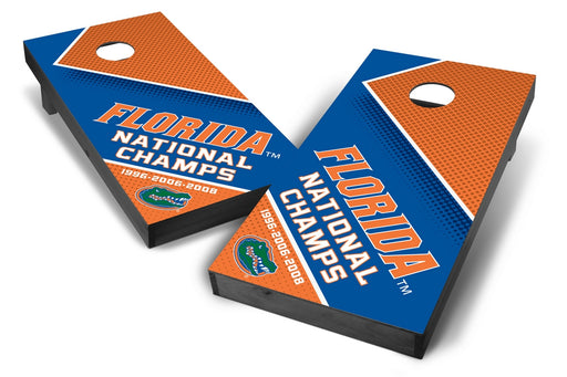 Florida Gators 2x4 Cornhole Board Set Onyx Stained - Champions