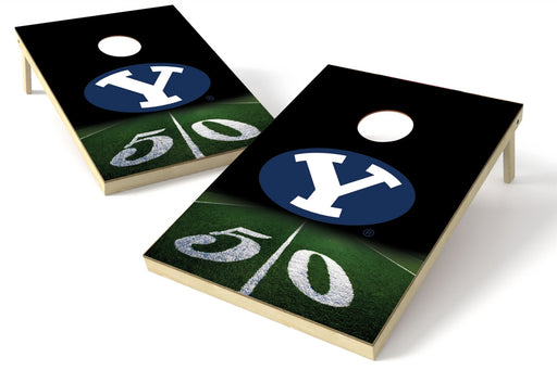 Bringham Young Cougars 2x3 Cornhole Board Set - 50 Yard Line
