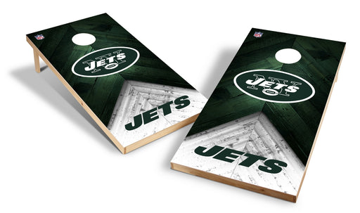 New York Jets 2x4 Cornhole Board Set - Weathered