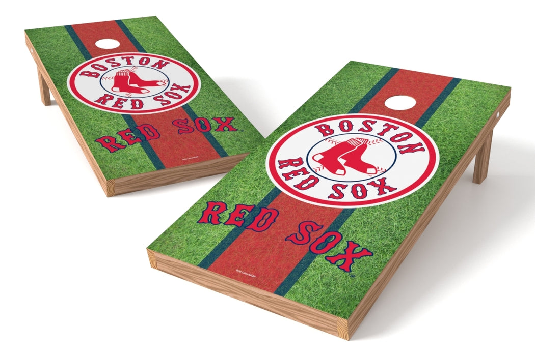 Boston Red Sox 2x4 Cornhole Board Set - Field