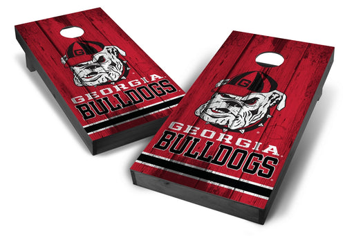 Georgia Bulldogs 2x4 Cornhole Board Set Onyx Stained - Vintage
