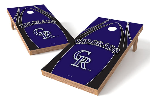 Colorado Rockies 2x4 Cornhole Board Set - Edge