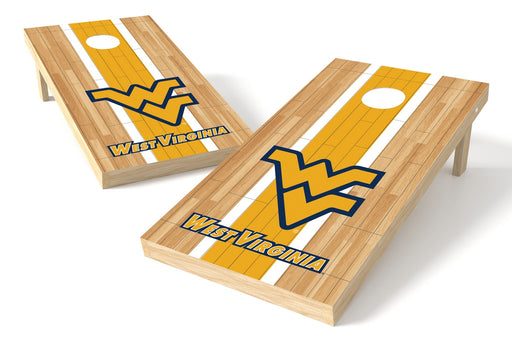 West Virginia Mountaineer 2x4 Cornhole Board Set - Wood