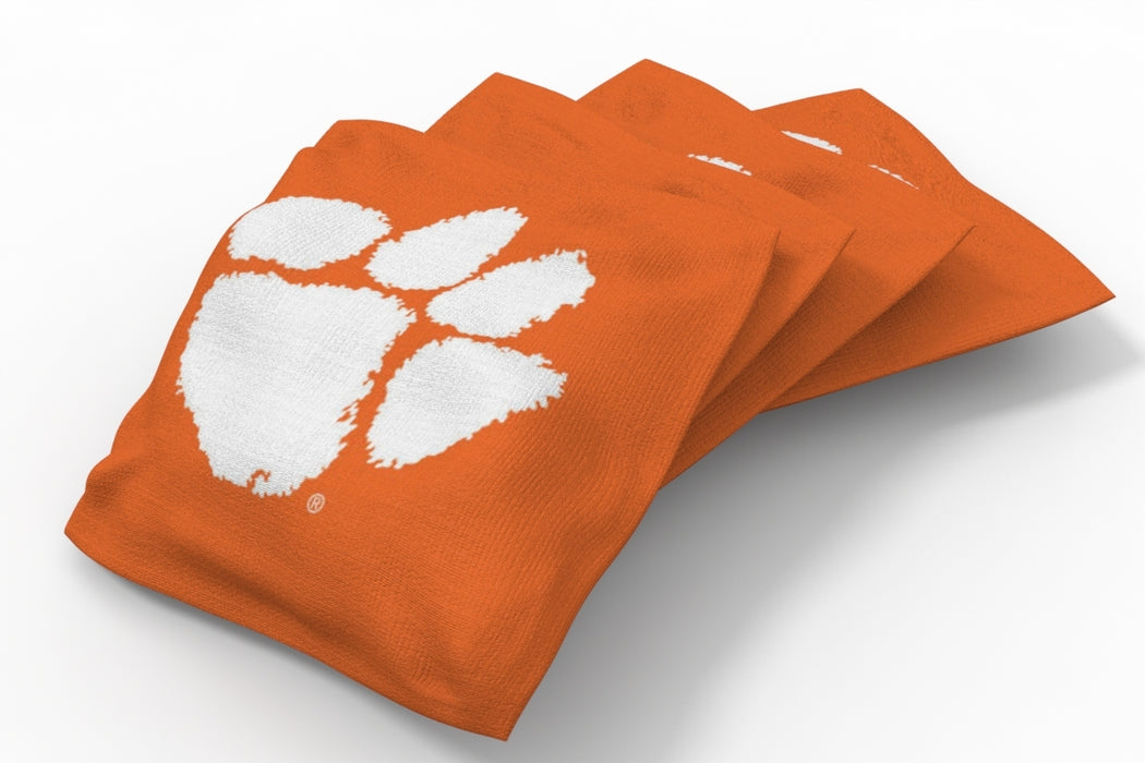 Clemson Tigers 2x4 Cornhole Board Set Onyx Stained - Plate