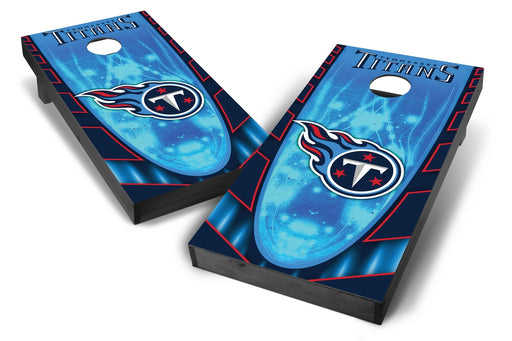Tennessee Titans 2x4 Cornhole Board Set Onyx Stained - Hot